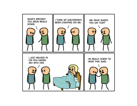 Cyanide & Happiness Cheating Print (autographed)