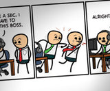 Cyanide & Happiness Games at Work print (Autographed)