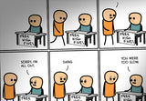Cyanide & Happiness High Fives Print (autographed)