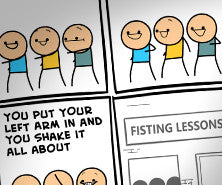 Cyanide & Happiness Fisting Lessons print (Autographed)