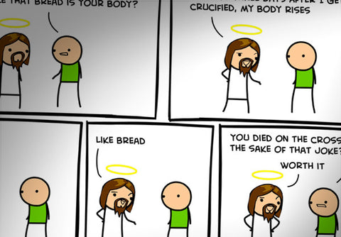 Cyanide & Happiness Body Rises Print (Autographed)