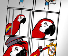 Cyanide & Happiness Racist Parrot print (Autographed)