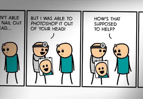 Cyanide & Happiness Photoshop Print (autographed)