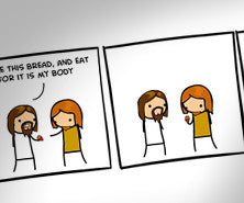 Cyanide & Happiness You're Weird, Jesus print (Autographed)