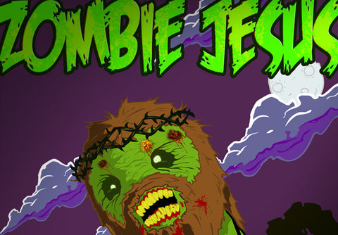 Cyanide & Happiness Zombie Jesus Poster
