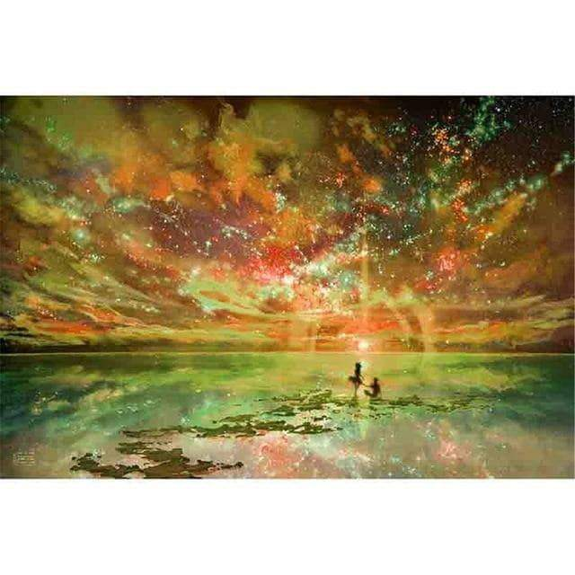 WeSellTrends.com 40X50cm NO Frame / Orange DIY PBN Arcylic Painting Romantic People Pictures By Numbers On Canvas Framed Wall Pictures Art For Living Room Home Decoration
