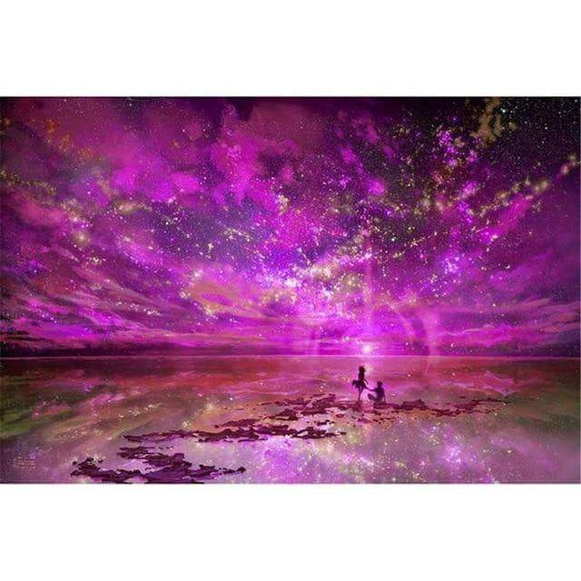 WeSellTrends.com 40X50cm NO Frame / Violett DIY PBN Arcylic Painting Romantic People Pictures By Numbers On Canvas Framed Wall Pictures Art For Living Room Home Decoration