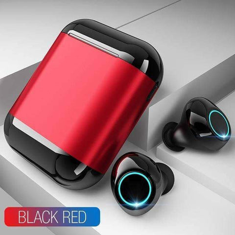 Image of WeSellTrends.com Gadget Black Red [Bluthooth 5.0} Ear Buds | Wireless Earpods