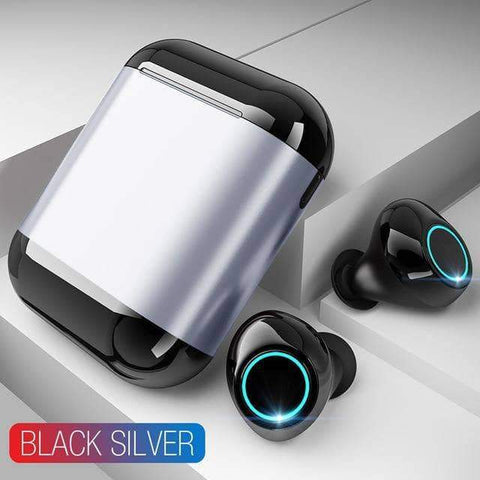 Image of WeSellTrends.com Gadget Black Silver [Bluthooth 5.0} Ear Buds | Wireless Earpods