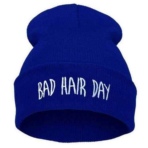 Image of WeSellTrends.com Kleidung Blau Bad Hair Day Beanie