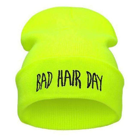 Image of WeSellTrends.com Kleidung Grün Bad Hair Day Beanie