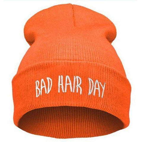Image of WeSellTrends.com Kleidung Orange Bad Hair Day Beanie
