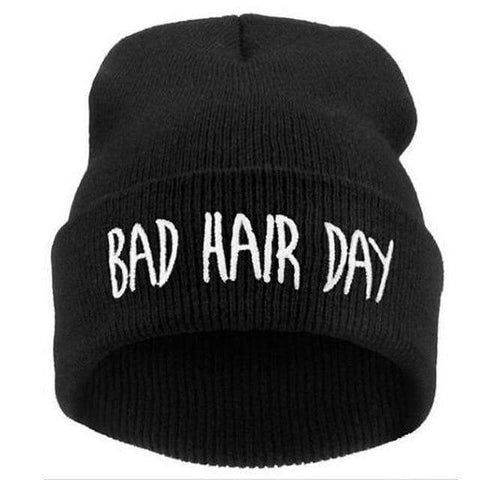 Image of WeSellTrends.com Kleidung Schwarz Bad Hair Day Beanie