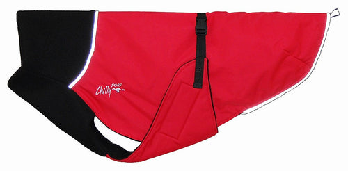 Great White North Winter Jacket for Greyhounds by Chilly Dogs - Red Special Edition