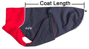 Great White North Winter Jacket for Greyhounds by Chilly Dogs - Red
