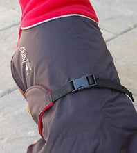 Load image into Gallery viewer, Great White North Winter Jacket for Greyhounds by Chilly Dogs - Black