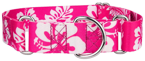 1.5 Inch Pink Hawaiian Martingale Collar for Greyhounds