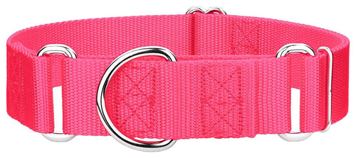1.5 Inch Heavyduty Nylon Martingale Collar for Greyhounds - Hot Pink