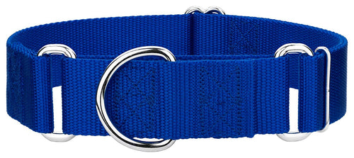 1.5 Inch Heavyduty Nylon Martingale Collar for Greyhounds - Royal Blue