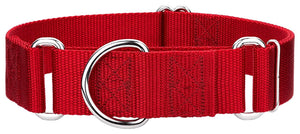 1.5 Inch Heavyduty Nylon Martingale Collar for Greyhounds - Red