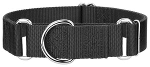 1.5 Inch Heavyduty Nylon Martingale Collar for Greyhounds - Black