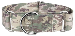 1.5 Inch Mountain Viper Camo Martingale Collar for Greyhounds