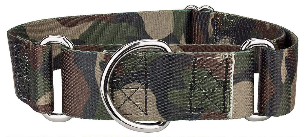 1.5 Inch Woodland Camo Martingale Collar for Greyhounds