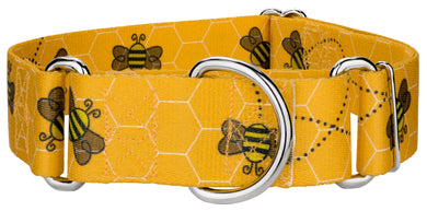 1.5 Inch Busy Bee Martingale Collar for Greyhounds