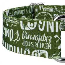 Load image into Gallery viewer, 1.5 Inch Outdoor Life Martingale Collar for Greyhounds
