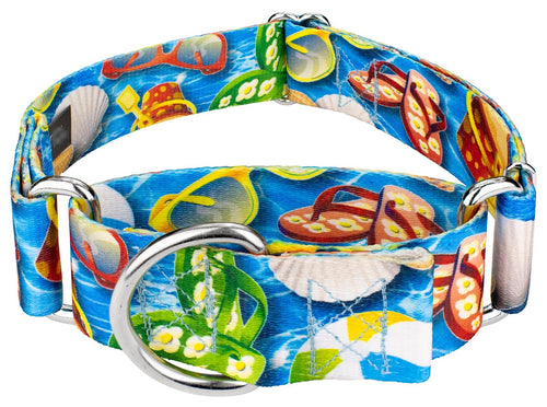 1.5 Inch Pool Party Martingale Collar for Greyhounds