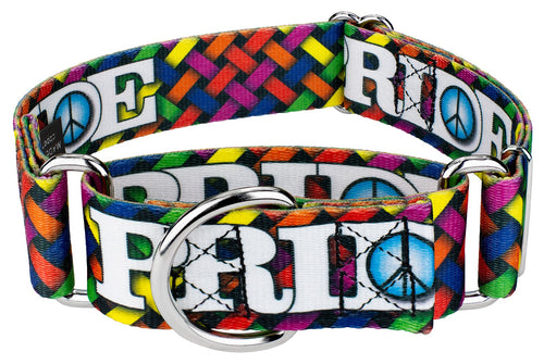 1.5 Inch Pride and Peace Martingale Collar for Greyhounds