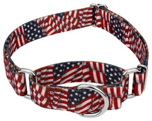 Load image into Gallery viewer, 1.5 Inch Patriotic Tribute Martingale Collar for Greyhounds