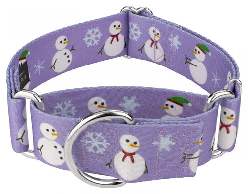 1.5 Inch Snowman Martingale Collar for Greyhounds