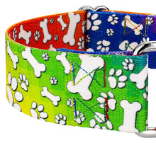 Load image into Gallery viewer, 1.5 Inch Trippy Doggo Martingale Collar for Greyhounds