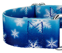 Load image into Gallery viewer, 1.5 Inch Winter Wonderland Martingale Collar for Greyhounds