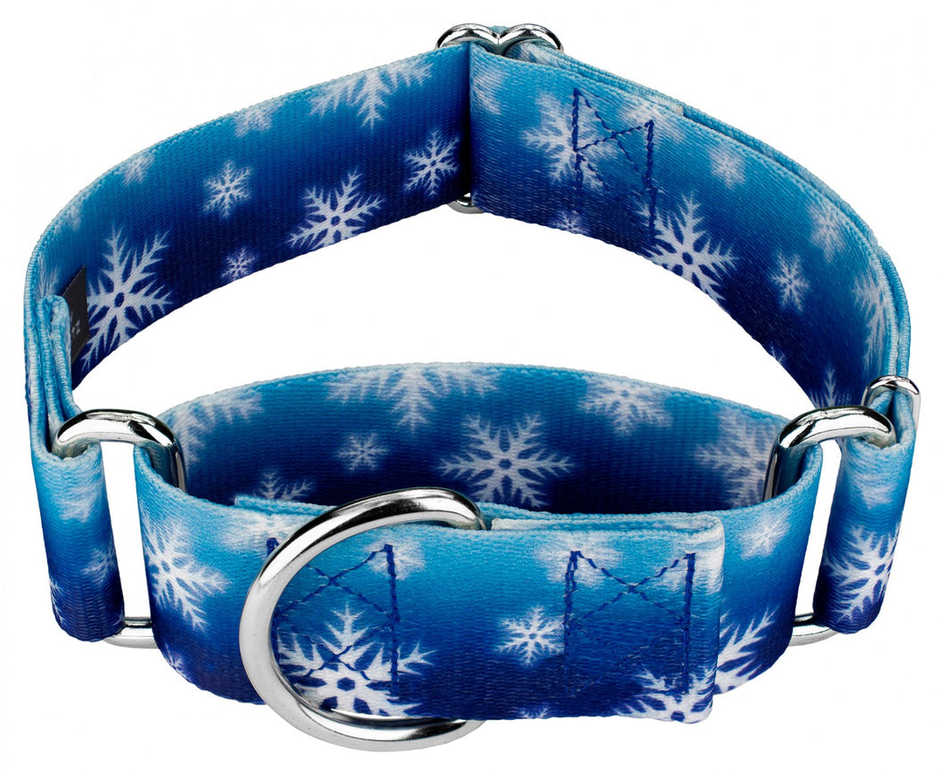 1.5 Inch Winter Wonderland Martingale Collar for Greyhounds