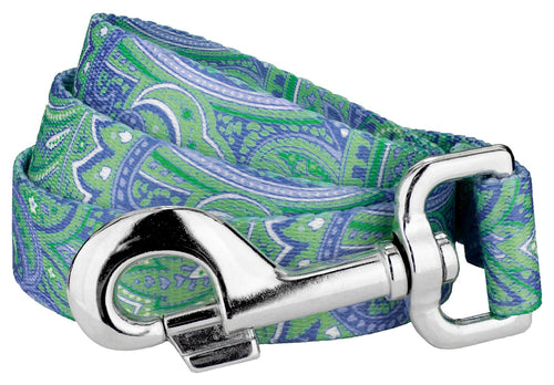 Green Paisley Leash for Greyhounds