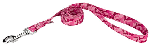 Pink Bone Camo Leash for Greyhounds