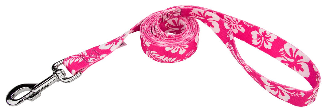 Pink Hawaiian Leash for Greyhounds