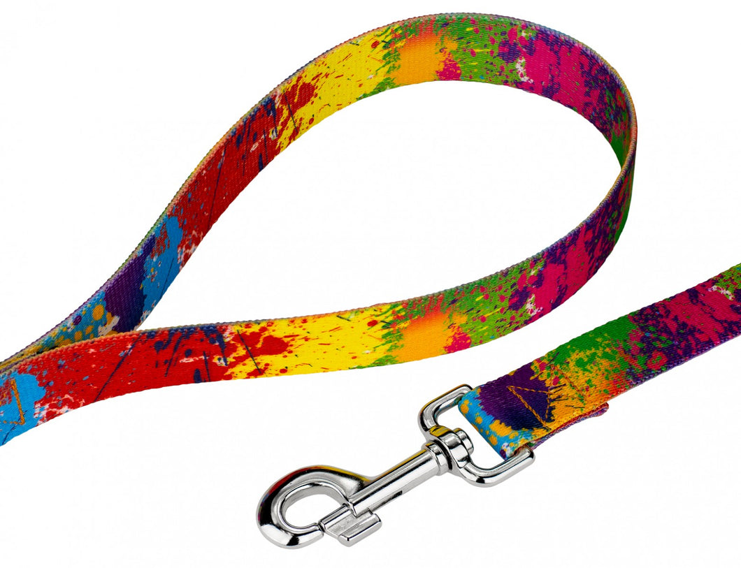 Paint Splatter Leash for Greyhounds