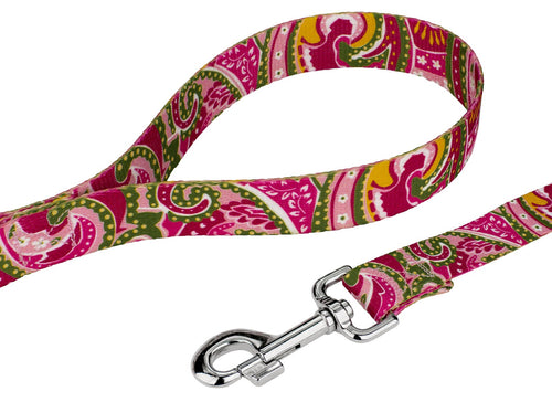 Pink Paisley Leash for Greyhounds