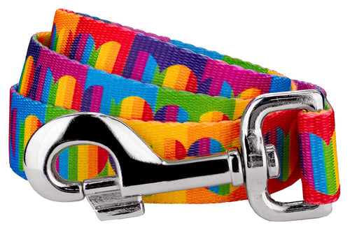 Rainbow Hearts Leash for Greyhounds