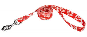 Red Hawaiian Leash for Greyhounds