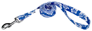 Royal Blue Hawaiian Leash for Greyhounds