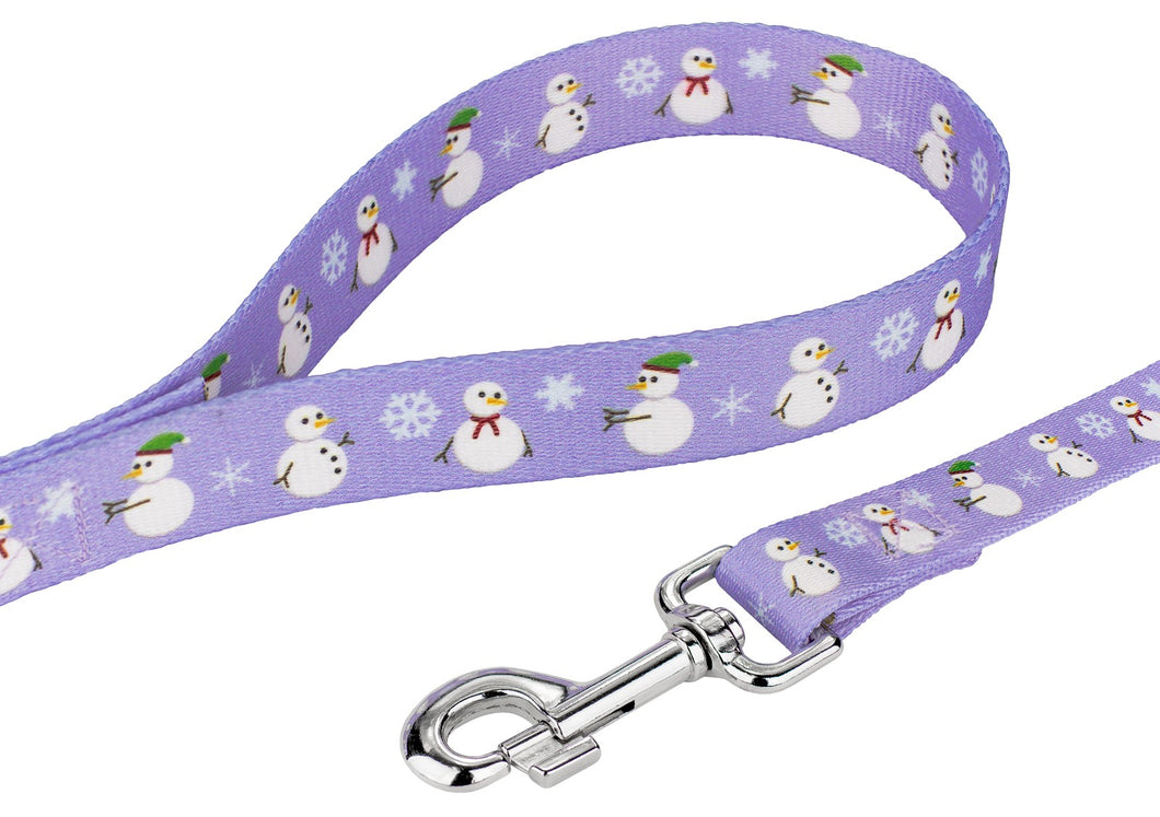 Snowman Leash for Greyhounds