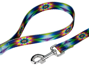 Tie Dye Flowers Leash for Greyhounds