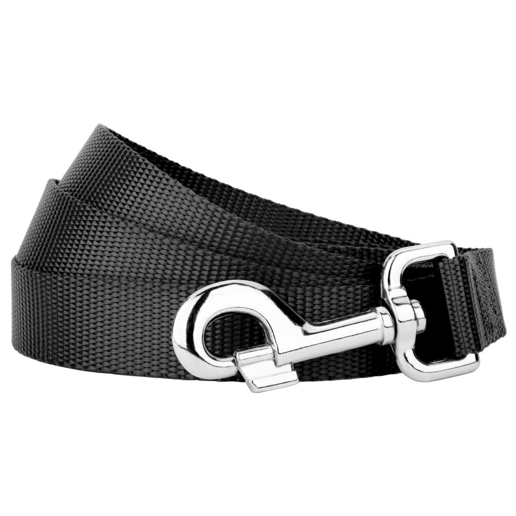 Black Heavyduty Nylon Leash for Greyhounds