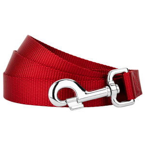 Red Heavyduty Nylon Leash for Greyhounds