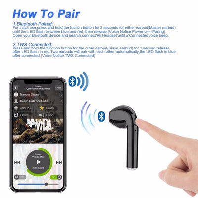 Wireless Bluetooth Headphones Earbuds in-Ear With Charging Box for ios and Android