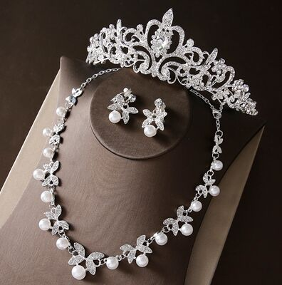 Noble Crystal Bridal Jewelry Sets